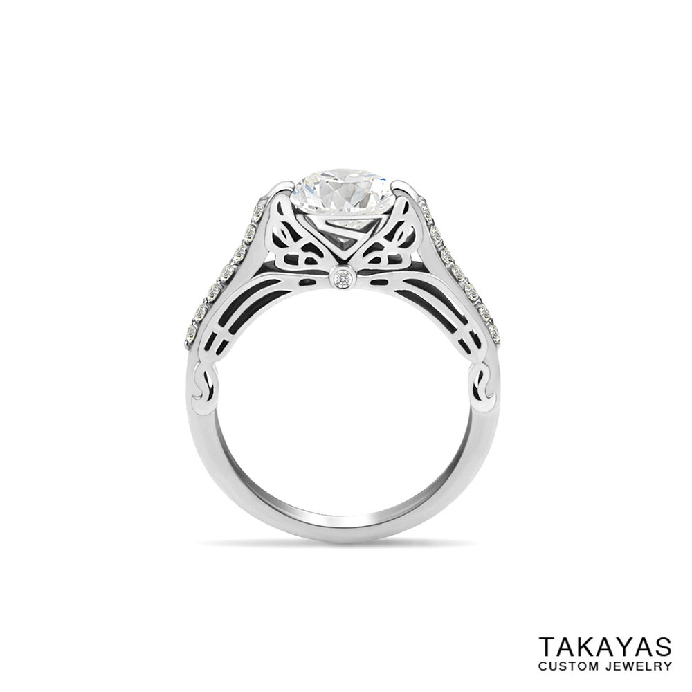 Butterfly_Superman_Engagement_Ring_3 Takayas Custom Jewelry