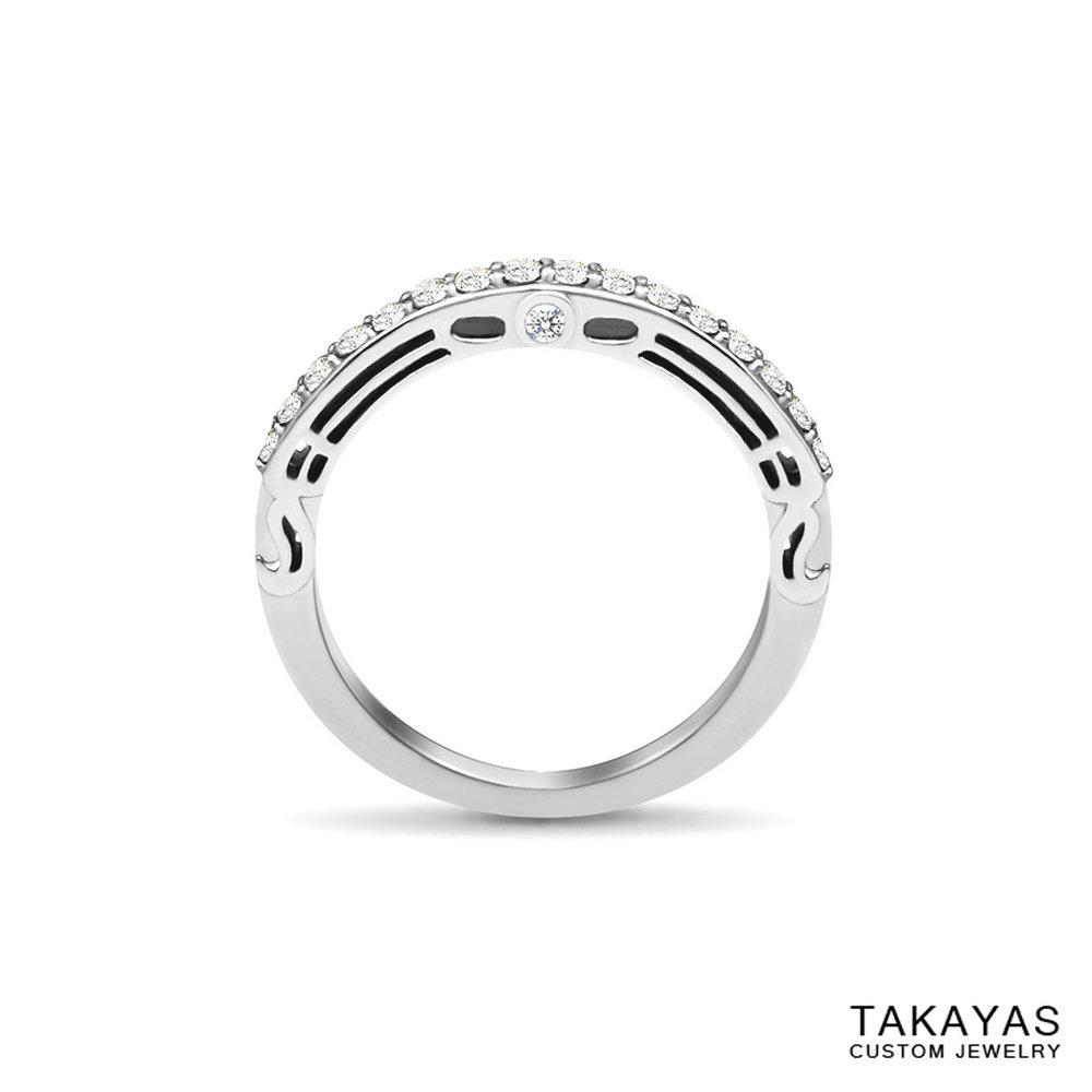 Butterfly_Superman_Wedding_Band_1 Takayas Custom Jewelry