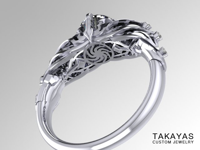 Diablo 3 engagement ring render of inside of the band