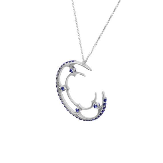 Blue Sapphires 18K White Gold Small