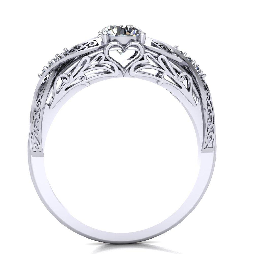 Elegant Fantasy custom ring design by Takayas, front view