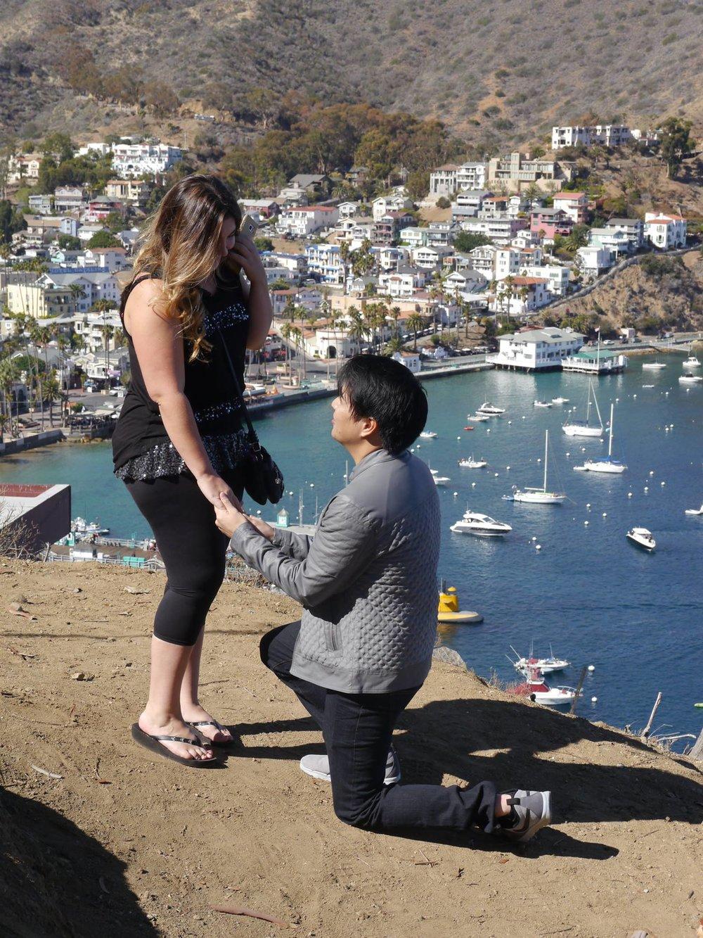 Julius proposing with his custom designed Elegant Fantasy engagement ring by Takayas