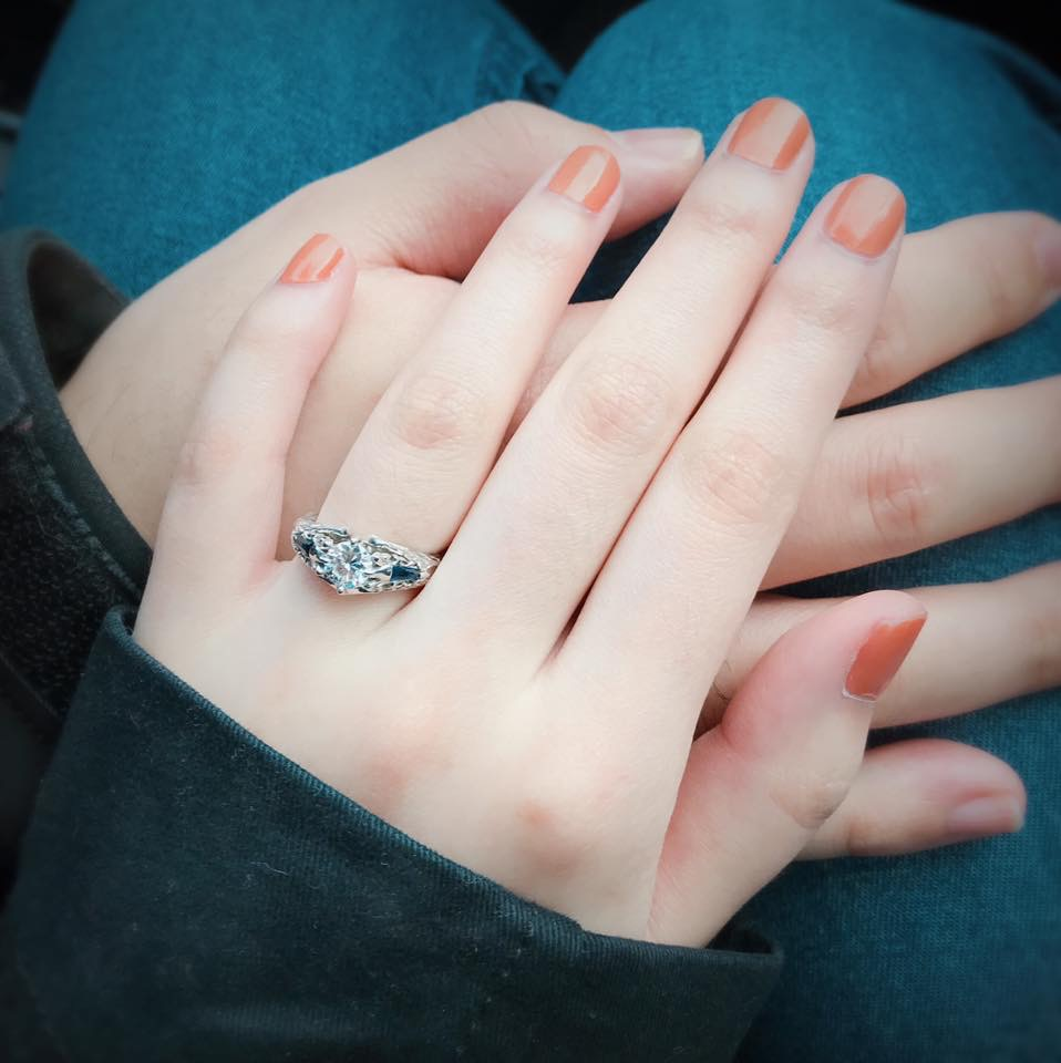 Custom FFXIV Scholar inspired ring on Kristina/Infi's hand