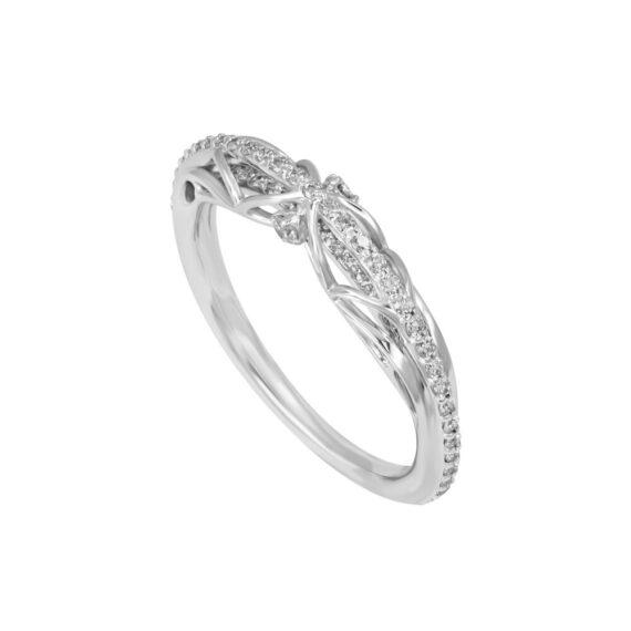 Futurism Wedding Band 18K White Gold Diamonds