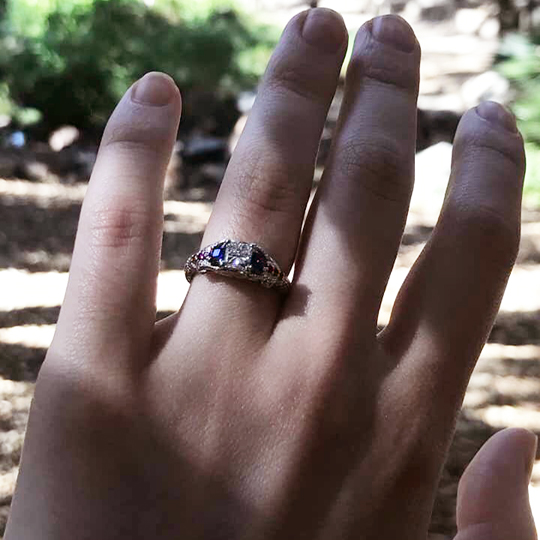 Gemmy Spider-Man engagement ring by Takayas - she said yes