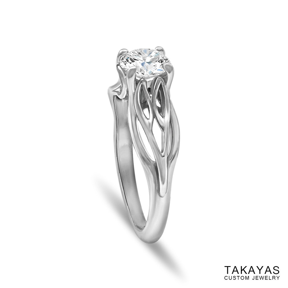 photograph of Joy's Ring solitaire engagement ring by Takayas - perspective view
