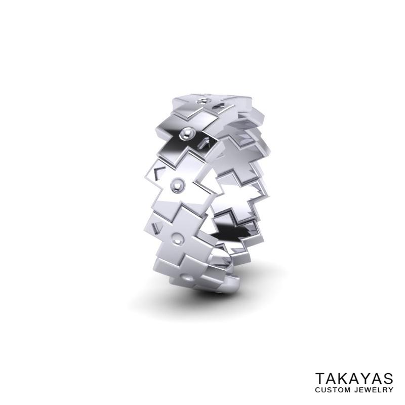 Konami Code Wedding Ring 2 Takayas Custom Jewelry