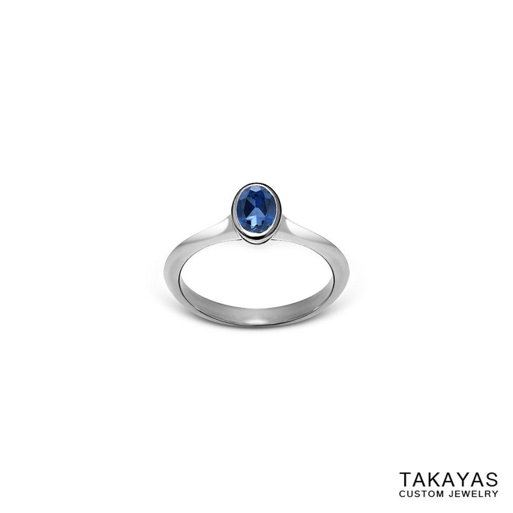Montana Sapphire Ring Takayas Custom Jewelry