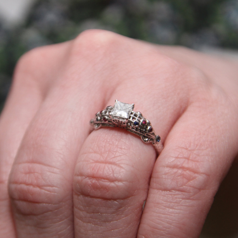 Spider-Man (Spiderman) engagement ring by Takayas - She said yes!