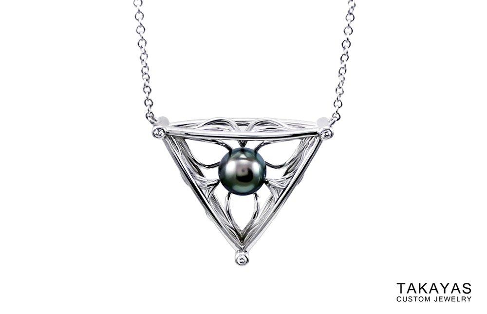 Takayas Black Pearl Necklace