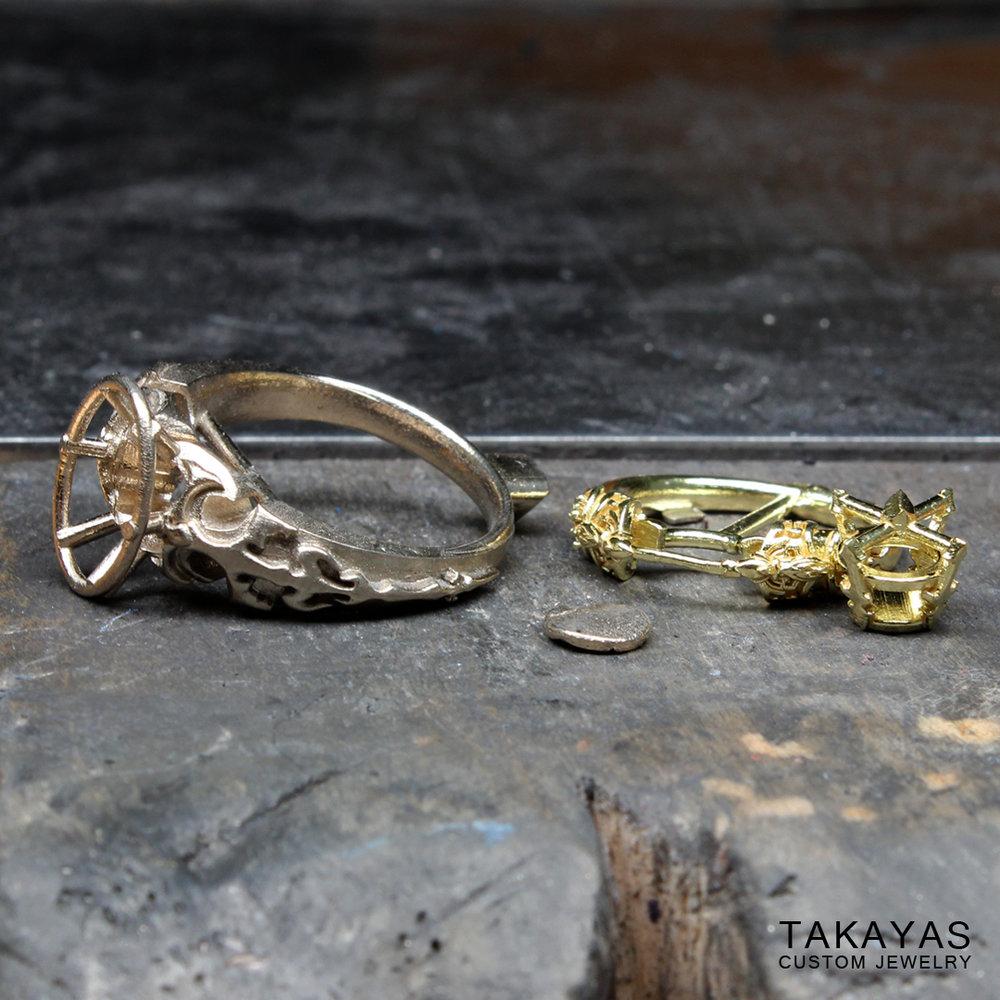 assembling the rings