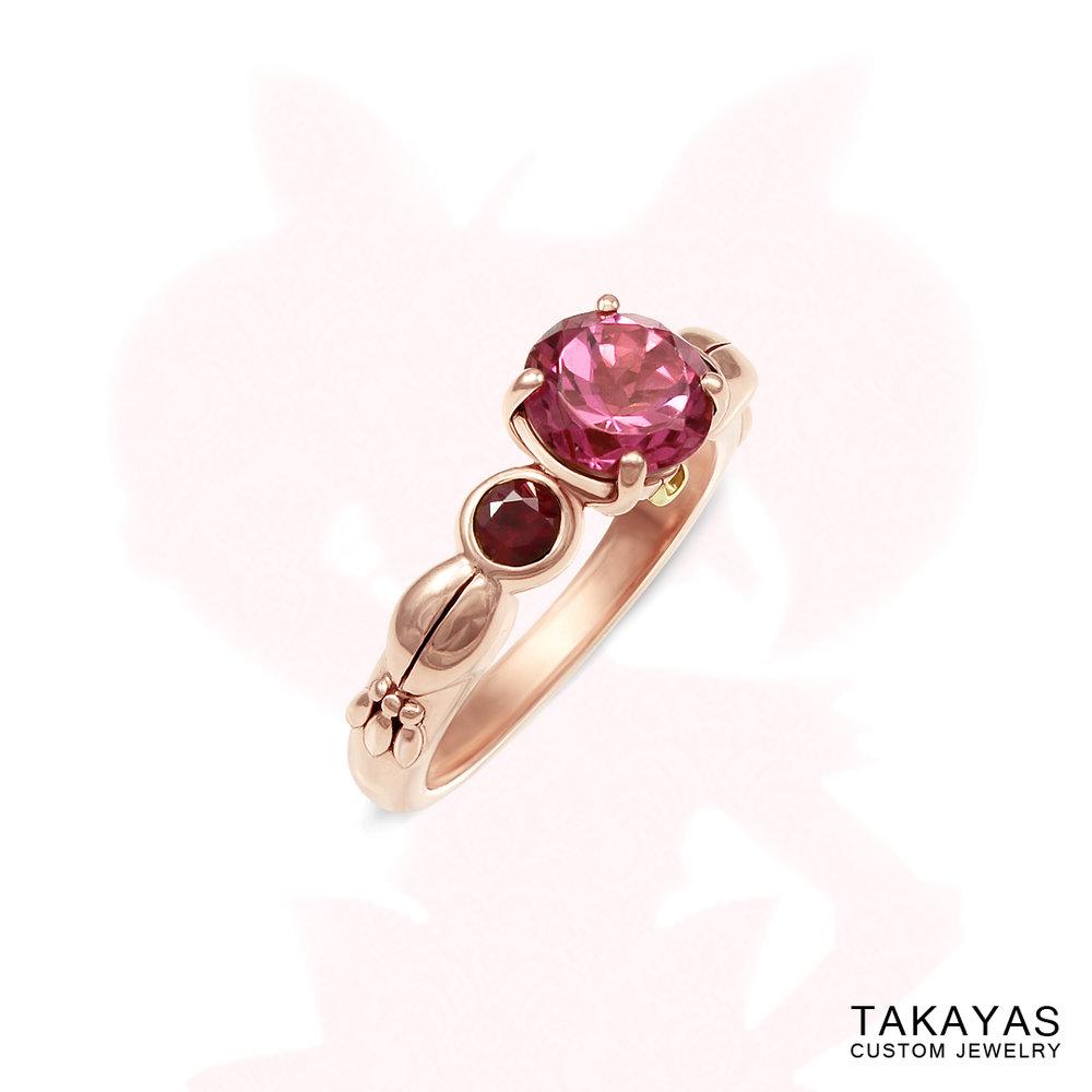 Chibi Moon engagement ring by Takayas Custom Jewelry